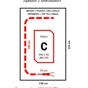 Cona C-vetoketjuovi RED PVC/HD, 230g